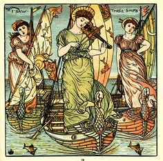 I Saw Three Ships from Baby's Opera by Walter Crane c1900 by crackdog, via Flickr