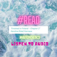 Finished in Finland #AUTOPOIETICS #scribd #share #READ #online #book Creative Writing, Finland, Writer, It Is Finished, Reading, Books, Movie Posters, Libros, Narrative Poetry