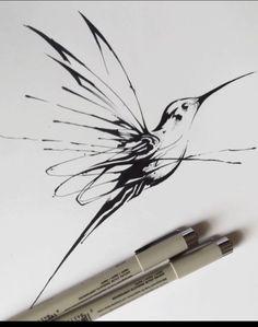 Hummingbird Tattoo Free Will Hummingbird Tattoo Free Will <br> Realistic Flower Drawing, Cute Flower Drawing, Beautiful Flower Drawings, Drawing Flowers, Beautiful Pictures, Art Drawings Sketches, Tattoo Drawings, Body Art Tattoos, Small Tattoos