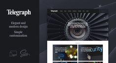 Telegraph – Creative WordPress Blog Theme #Blog, #Classic, #Clean, #Elegant, #Fashion, #Feminine, #Food, #Instagram, #ItembridgeThemes, #Lifestyle, #Music, #Personal, #Simple, #Slider, #Stylish http://goo.gl/eJIh20