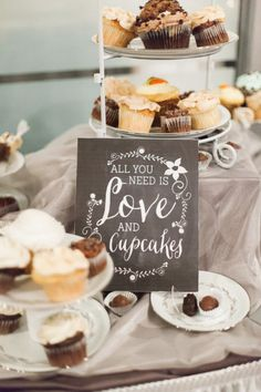 All you need is love and cupcakes: http://www.stylemepretty.com/2015/02/02/elegant-st-louis-garden-wedding/ | Photography: Lisa Dolan - http://lisadolanphotography.com/