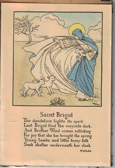 """Female Poets of The First World War: Winifred Mabel Letts - """"Saint Brigid"""" on St. Brigid's Day - 1st February"""