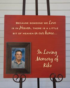 Personalized In Loving Memory / Love Heaven Home by Frameyourstory, 69.00    This would be a great thing in memory of parents