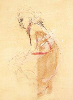 """Saatchi Art Artist Ute Rathmann; Drawing, """"Hommage à Toulouse-Lautrec XVII"""" #art"""