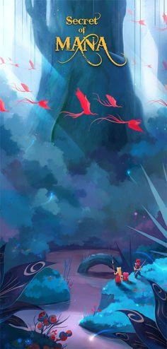 Secret of Mana concept art Alex Tooth Game Background, Animation Background, Fantasy Kunst, Fantasy Art, Illustrations, Illustration Art, Secret Of Mana, Fanart, Psy Art