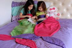 Personalized Mermaid Tail Blanket Kids by MirandaMorganDesign
