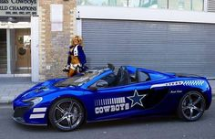 Here we have few of the great looking Dallas Cowboy cars. Which one would you choose? Is that a McLaren?) Well, you need to like both exotic car and Dallas Cowboys Football, Dallas Cowboys Pictures, Cowboys 4, Football Team, Pittsburgh Steelers, Cowboy Images, How Bout Them Cowboys, Champions, Football Season