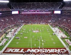 Bryant Denny Stadium Home of the 13-time National champion Alabama Crimson Tide.