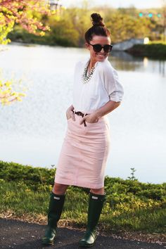love this look! (minus the gumboots)