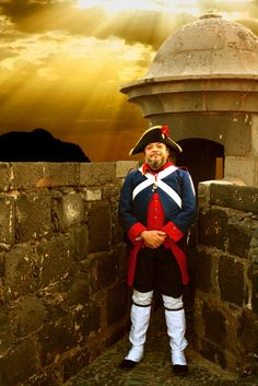 """"""" GARITA DE GUARDIA EN EL CASTILLO NEGRO. """":    Foto Lienzo de A.J.G.F.  Siglo XVIII.  Asociación Histórico Cultural de la Gesta del 25 de Julio de 1.797 de Santa Cruz de Tenerife."""