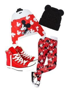 mickey mouseee by jordanfashion14 on Polyvore featuring polyvore, mode, style and Converse