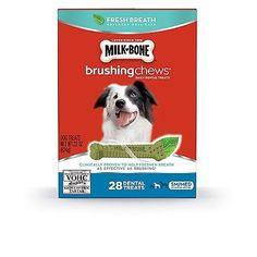 Milk-Bone Brushing Chews Fresh Breath Dog Treats Small/Medium
