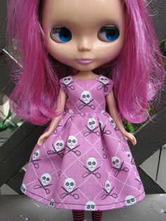 SALE...BLYTHE doll Halloween Party Dress - Sew Creepy. $13.50, via Etsy.