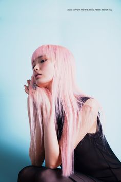 Dress serpent and the swan pink hair dyed hair asian girl Pink Hair Dye, Dyed Hair, Fantasy Hair, Cut And Style, Marie Antoinette, Female Models, Editorial Fashion, Asian Girl, Your Hair