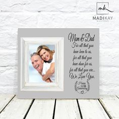 50th Anniversary Gift, 50th Wedding Anniversary Gift, For All That You Have Been To Us, Gifts for Parents, Parents Anniversary Gift Frame #MK #MKSTORY #50thanniversary