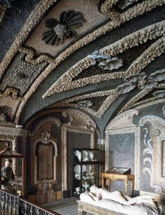 Underground chambers of Borromeo Palace, Stresa, Piedmont, Italy. AKG-imágenes