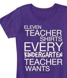 Show your love for teaching kindergarten with these 11 Teacher Shirts Every Kindergarten Teacher Wants. These shirts perfectly sum up our amazing jobs. Kindergarten Shirts, Kindergarten Teacher Quotes, Kindergarten Teacher Shirts, Teacher Memes, Teacher Stuff, Kindergarten Classroom, Classroom Ideas, Teachers College, Autism Classroom