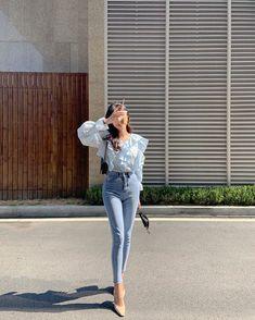 Korean Fashion Dress, Kpop Fashion Outfits, Korean Street Fashion, Ulzzang Fashion, Korea Fashion, Korean Casual Outfits, Cute Casual Outfits, Pretty Outfits, Stylish Outfits