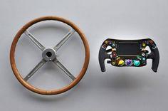 evoluce změn formulových volantů...