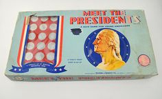 Vintage Meet The Presidents Board Game 1961 Edition