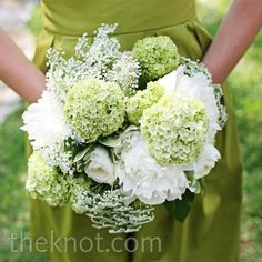 Beautiful hydrangea and peony bridesmaid bouquet | Eclectic Images | Bouquets Of Austin | www.theknot.com