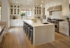 Kitchen: I like this look except for the ovens. Love the big island bench with enough room for the kids to sit at.