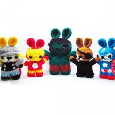 The Bunnyvengers amigurumi pattern by Sweet N' Cute Creations