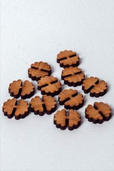 These tiny flower buttons are sewn across the middle for a unique look. Designed and made by Arrow Mountain.  #BeyondMeasure #ArrowMountain #button #wooden Button Flowers, Tiny Flowers, Gingerbread Cookies, Dog Food Recipes, Arrow, Bamboo, Buttons, Middle, Mountain
