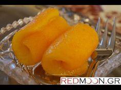 Γλυκό του κουταλιού πορτοκάλι Orange sweet preserves and jam - YouTube Easy Desserts, Dessert Recipes, Orange Jam, Preserves, Food Videos, Cantaloupe, Food To Make, Recipies, Deserts