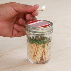Mason Jar Matchbox #hack #DIY #matches