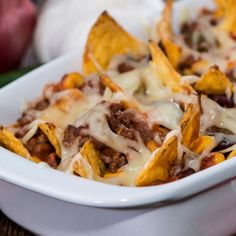 A Crispy and warm Mexican nacho casserole recipe. serve with a side of sour cream and a salad.. Mexican Nacho Casserole Recipe from Grandmothers Kitchen.