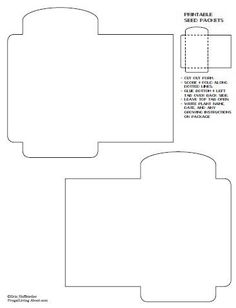 blank seed packet template