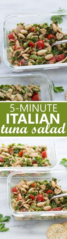 5-Minute Italian Tuna Salad! An easy, healthy, protein-packed lunch you can make in minutes!