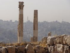 Ruins in Amman, Jordan, with a mosque and the modern city in the background. Photo: Brian Kaylor.