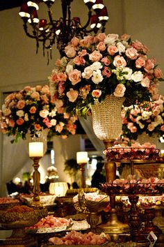 mesa do bolo casamento florido - Pesquisa Google