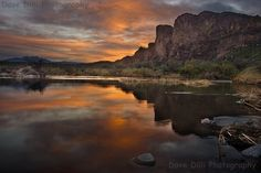 Photograph, Salt River Sunset Drama - 7 x 10 Matted Fine Art Image. MEMBER - DaveDiliPhotography