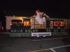 Chickenburger Express - A parade of lights float we had that never got a chance to shine. Broadway Shows, Lights, Photo And Video, Photos, Pictures, Lighting, Rope Lighting, Candles, Lanterns