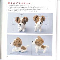 Щенки амигуруми крючком. Схемы хорошего качества из японского журнала вязания маленьких собачек амигуруми крючком. Вяжите на радость своим любимым малышам!