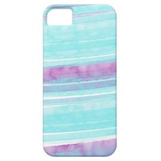 Aqua and Purple Watercolor iPhone 5/5s Case