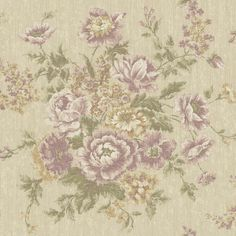Engaging golden beige/wisteria/lilac tapestry wallcovering by York. Item VR3405. Save on York luxury wallpaper. Free shipping! Search thousands of patterns. Swatches available. Width 20.5 inches.
