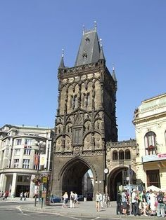 Powder Tower in Prague, #czechrepublic #tower #beautifulplaces