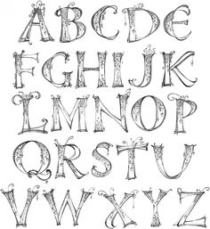 Impression Obsession Rubber Stamps Zenspirations™ Alphabet. Will be fun to recreate by hand.