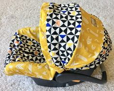 Geo Infant Car Seat Cover Gold Baby Car Seat Cover Gold