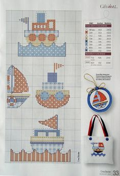 Para los peques... en punto de cruz (pág. 502)   Aprender manualidades es facilisimo.com Cross Stitch Sea, Cross Stitch For Kids, Cross Stitch Charts, Cross Stitch Designs, Cross Stitch Patterns, Cross Stitching, Cross Stitch Embroidery, Cross Stitch Tutorial, Baby Bibs Patterns