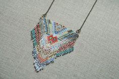 Rubinski works peyote beadwork