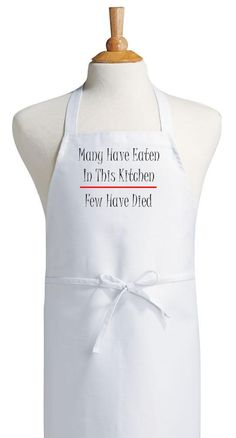 White Kitchen Apron our novelty kitchen aprons are perfect for men or women