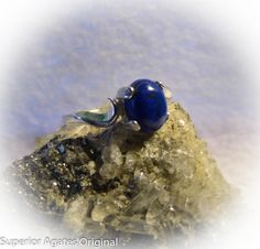 Lapis Lazuli Sterling Silver Ring Size 7 by superioragates on Etsy, $40.00