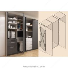 Hawa Concepta 25 System For Pivoting Pocket Doors   Richelieu Hardware
