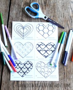 free printable coloring valentines--my kids would love to color their own valentines!!!