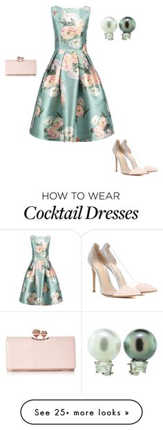 """Pearls"" by hlweaver on Polyvore featuring Gianvito Rossi and Ted Baker"